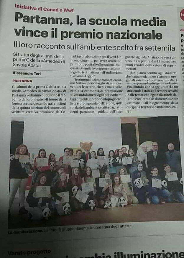 CONCORSO PREMIAZIONE SCRITTORI DI CLASSE-ARTICOLO