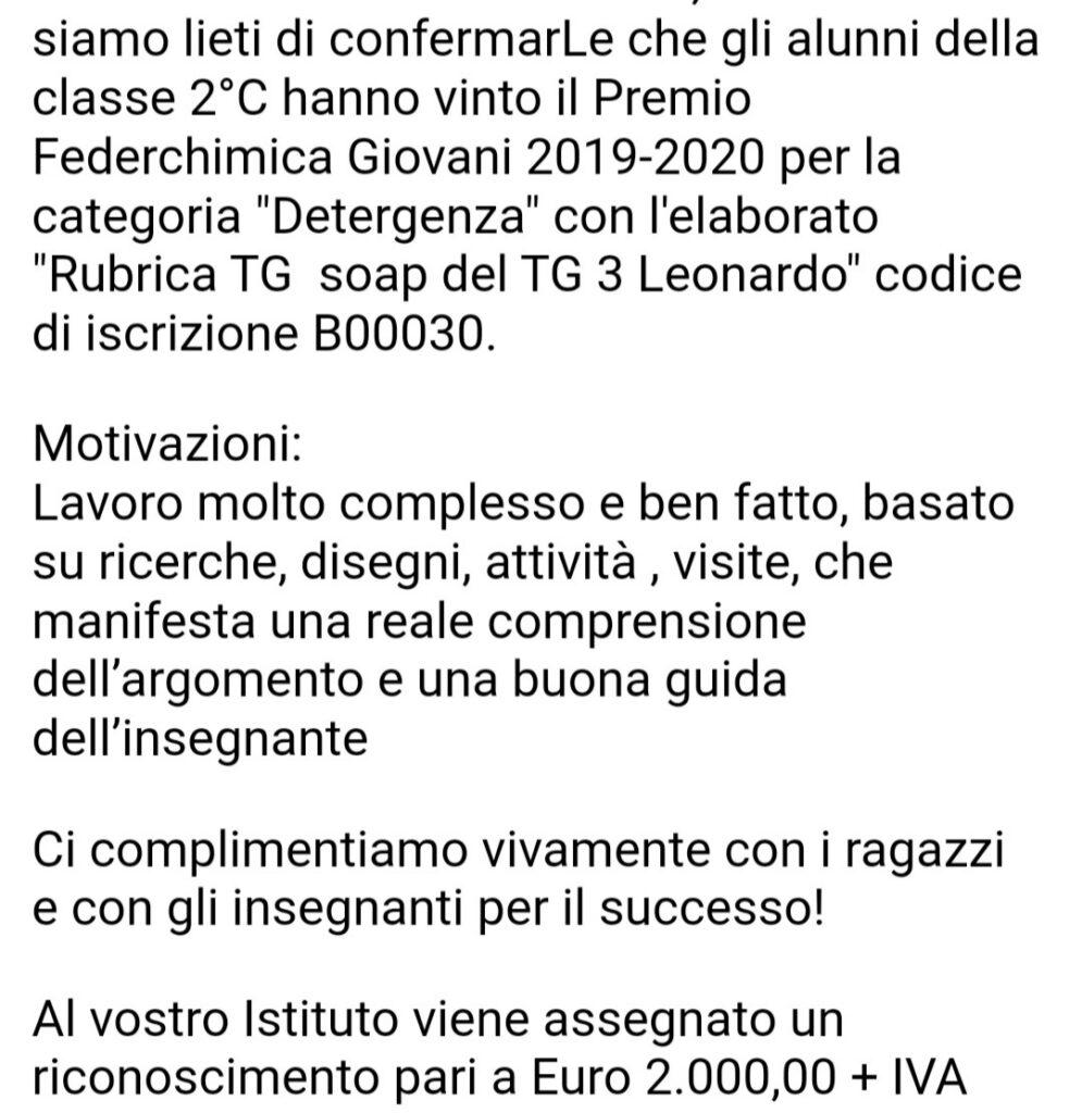 VINCITORI CONCORSO FEDERCHIMICA