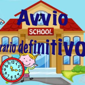 AVVIO ORARIO DEFINITIVO